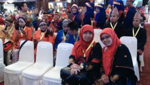 Kontingen SDIT Nurul Islah-NAD pada Grand Final Lomba Budaya Mutu Sekolah Dasar Tingkat Nasional 2016